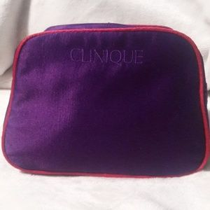 Clinique  make up bag  7x5x3 purple